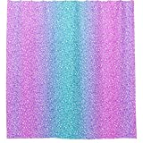 Blau und lila Glitzer Vorhang für die Dusche, 60von 182,9cm.