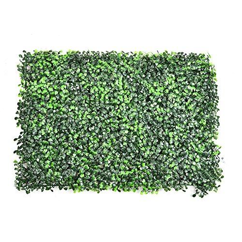 künstliche Hecke Spalier faux grün Privatsphäre Zaun Bildschirm gefälschte Grün Platten Outdoor Landschaftsbau Hintergrund Kunststoff Hecke Matte Garten Wand Dekor von yunhigh (Wand-dekor-garten)