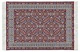 Orient&Ornament Miniatur Teppich, Polyester, für Krippe oder Puppenhaus. Rotes Muster. 10x15 cm