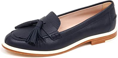 Tod's F3280 Mocassino Donna Blu Scarpe Loafer Shoe Woman