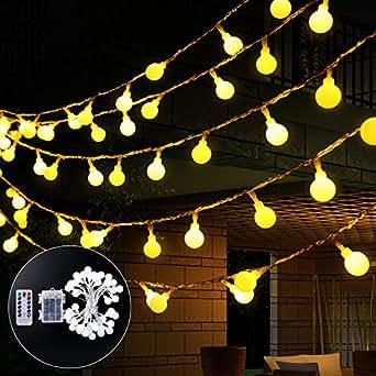 agapo 4 5m 40 leds globe lichterkette mit ir fernbedienung. Black Bedroom Furniture Sets. Home Design Ideas