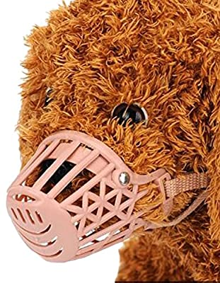 Crasy Shop Adjusable Gel Dog Muzzles Anti Biting Chewing Basket Collar for Small and Medium Dogs Training from Crasy Shop