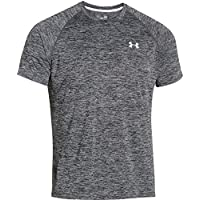 Under Armour Herren UA Tech Ss Fitness T-Shirt, Schwarz (Schwarz Heather), S