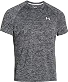 Under Armour Herren UA Tech Ss Fitness T-Shirt, Schwarz (Schwarz Heather), XXL