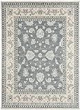 Kadimadesign Teppich Wohnzimmer Carpet orientalisches Design CHOBI Classic Rug 100% Wolle 160x230 cm Rechteckig Grau | Teppiche günstig online kaufen