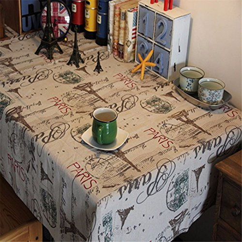 YFF@ILU Home deco Antik minimalistischen Hochzeit/Picknick/Geburtstagsparty, Küche, runde/eckige, Restaurant, Fabric, Abdeckungen, Tabelle Flagge, Antependium, Tischdecke, 55*55-Zoll (140*140cm)