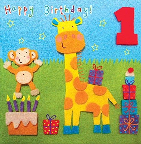 Twizler 1st Di Compleanno Per Bambini Con Giraffa E Scimmia One