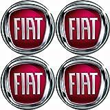 Radnabenkappen FIAT Embleme Felgen Aufkleber Logo Nabendeckel Nabenkappe Radkappe 4 x 56 mm