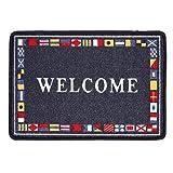ExtraMaritim Maritime Fußmatte/Fußabtreter Welcome Rutschfeste Matte aus Polyester
