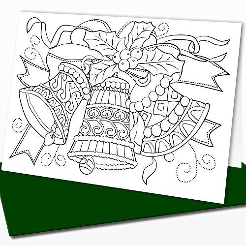 Disegni Di Natale Da Colorare Per Adulti.Art Eclect Biglietti Natalizi Da Colorare Per Adulti E