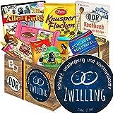 Sternzeichen Zwilling - Zwilling Geschenkidee - DDR Korb Schokolade