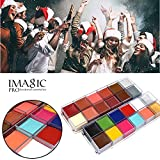 HKFV IMAGIC Magical Unique Unparalled Fashion 12 Colors Body Makeup Face Makeup Decor Tattoo Face Body Paint Oil Painting Art Party Beauty Makeup Tools For Night Party Night Running Christmas Party (Set B)