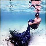 Traje De Bano Sirena para Niñas con Bikini Conjunto con Cola De Sirena para Piscina/Playa/Baño/Cosplay/Fiesta Temática/Nadar/