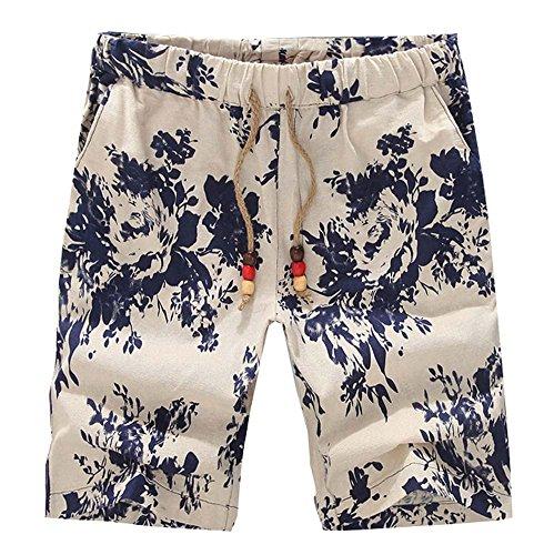 Shorts Floral Summer Linen Shorts Hommes Sunflower Beach Conseil Swim