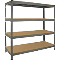 Étagère de garage ultra-résistante Q-Rax - 360 kg/étagère, 160 cm x 60 cm x 160 cm, gris