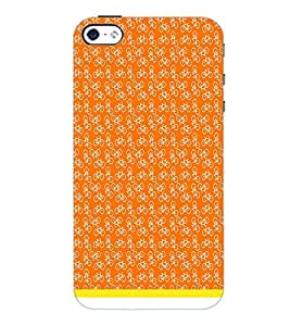 PrintDhaba Cycle Pattern D-1483 Back Case Cover for APPLE IPHONE 5 (Multi-Coloured)