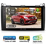 Autoradio Android AMB-9020 für Mercedes-Benz W169 / W245 / W639 / W906 inkl. Can-Bus | GPS Navi (Europa-Karten) | DAB+ | 4-Core | 4K Ultra HD Video | WLAN | Bluetooth (iOS/Android) | MirrorLink | RDS