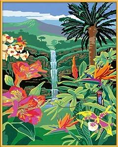 "Ravensburger 28818 - Juego de pintura por números diseño ""Flores exóticas"", 40 x 30 cm Importado de Alemania"