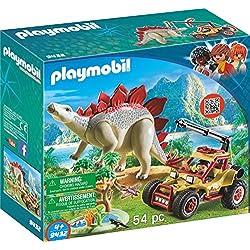 Playmobil-9432 Vehículo Explorador con Estegosaurio, (9432)
