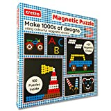#1: Magnetic Puzzle: Make 1000s of Designs with Colourful Magnetic Circles (400 Magnets + 100 Puzzle Book + Magnetic Board)