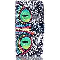 Housse en Cuir Pour Galaxy A3 2016 Coque Étui Pour Samsung Galaxy A3 2016 A310 (4,7 pouces) Case Cover Etui de Protection avec Fonction Stand / Carte de Credit Holder (Yeux Verts)