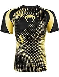 Venum Technical–Camiseta de compresión para hombre, camiseta, color Negro - Noir / Jaune, tamaño XXL