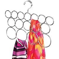 mDesign porte-foulard – cintre foulard et rangement écharpes, foulards etc. – système de rangement avec 16 anneaux…