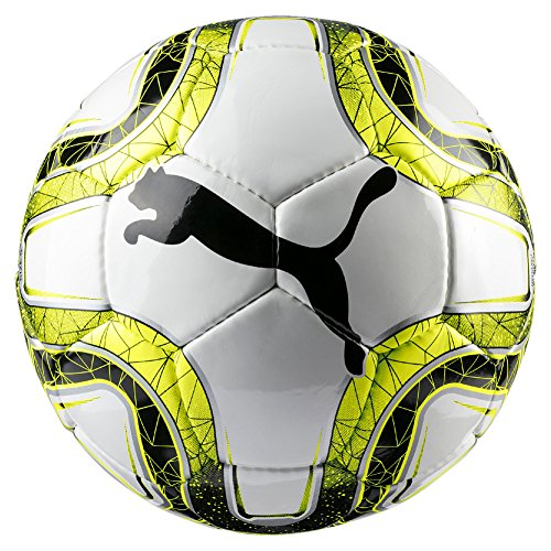 Puma Final 5 HS Trainer Balón de Fútbol, Unisex Adulto, White/Lemon Tonic Black, 3