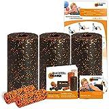 Blackroll Orange (Das Original) - DIE Faszienrolle  - Pilates-Set mit 3x Faszienrolle STANDARD, 2x Massagerolle MINI, inkl. Übungs-DVD, -Booklet & Übungsposter