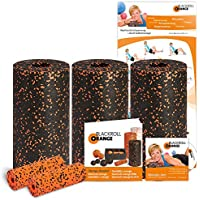 Blackroll Orange (Das Original) - DIE Faszienrolle  - Pilates-Set mit 3x Faszienrolle STANDARD, 2x Massagerolle MINI, inkl. Übungs-DVD, -Booklet & Übungsposter