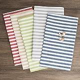 FILU Servietten 8er Pack Blau/Weiß gestreift (Farbe und Design wählbar) 45 x 45 cm - Stoffserviette aus 100% Baumwolle im skandinavischen Landhausstil - 3