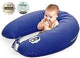 sei Design Qualità bambino cuscino gravidanza di cura 170 x 30cm, riempimento costituito da fiocchi di fibre - molto morbido e confortevole. Coprire con zip e ricamo di alta qualità.