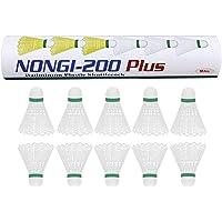 NONGI Plus Plastic Badminton Shuttlecock Pack of 10