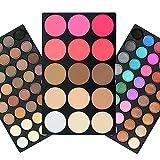 TOFAR 95 Colori Palette Ombretti Eyeshadow Palette Trucco Occhi Eyeshadow Palette 80 Colori Trucco Ombretto + Fondotinta in Polvere 9 Colori + 6 Colori Fard