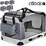 CADOCA® Soft-Sided Pet Carrier for Dogs Cats & Small Animals | Folding Water-repellent