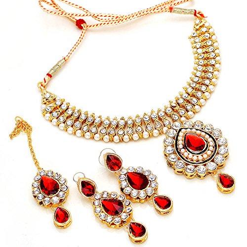 Kundan Bridal Necklace Set puwai handmade branded new design Real Look Diamond Jewelry & tika 15739
