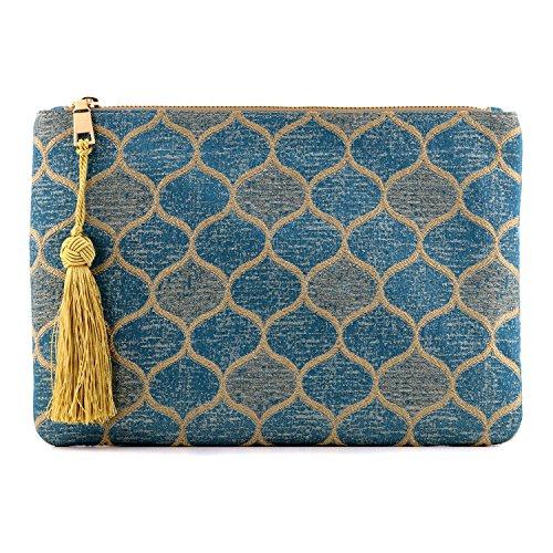 Otto Designer Damen Clutch - Unterarmtasche - Kleiner Kreditkartenhalter und Münzfach - Ultra-schlanke, leichte Tasche (Clutch)
