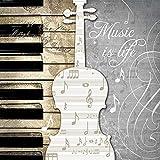 Serviette « La musique, c\'est la vie » 20 pc.