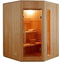 Sauna traditionnel finlandais d angle 3 a 4 places zen SN-ZEN-3C