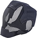 Fansport Tactical Airsoft Mesh Mask Maschera in Acciaio Airsoft Tattici reti di Acciaio Maschere Paintball Face Mask per Le Orecchie e Occhiali Set per CS/Caccia/Paintball/Shooting