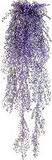 85CM Artificial Hanging Flower Plant Fake Vine Willow Rattan Flowers Artificial Hanging Plant for Home Garden Wall Decoration(Purple)
