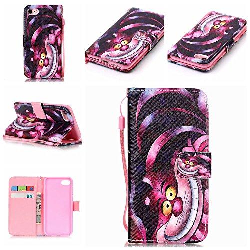 """Rose Fille Style Cuir Portefeuille Coque pour Apple iphone 7 4.7"""", Élégant iPhone 7 étui Rabat Style, Case iPhone 7, Joli Image Imprimé - Mandala Rose-2"""