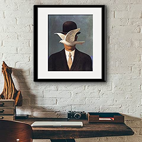 modylee Gentleman e piccioni, Telone Video decorativa dipinti soggiorno camera da letto Tela pittura a olio, Black,