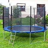Gartentrampoline Trampoline Outdoor-Trampoline Fitness-Trampoline 370cm , inkl. Sicherheitsnetz,Schuhtasche, Bodenanker, Leiter und Abdeckplane - 2