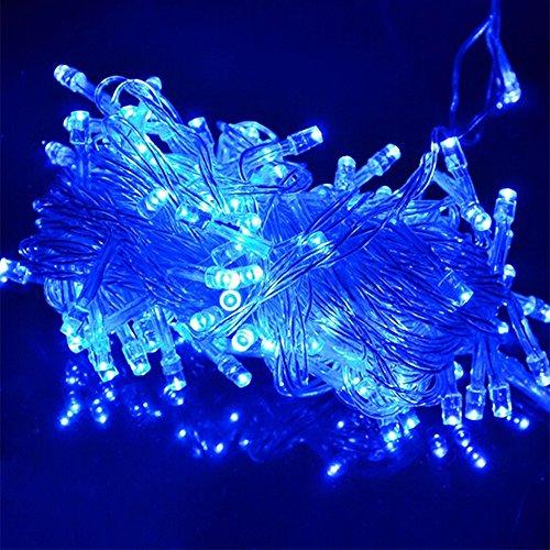 LED Lichterkette 10 Meter 8 Modi 100 LEDs verlängerbar Festbeleuchtung innen aussen Fensterdekoration 7 Watt blau