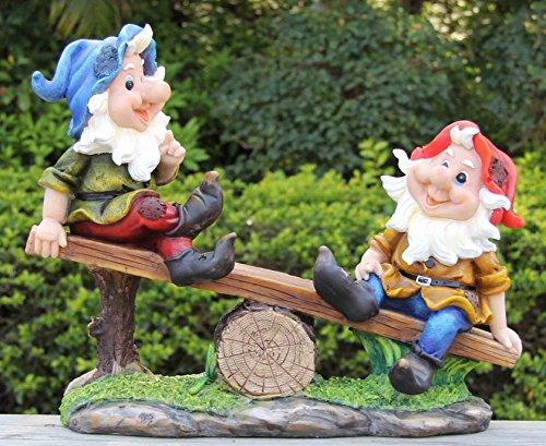 Wonderland Gnome/Dwarf On Seesaw (Garden Gnomes, Garden Décor)