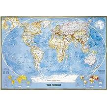 Mapa mural del mundo classic grande. 151 x 103 cm. Español. National Geographic.