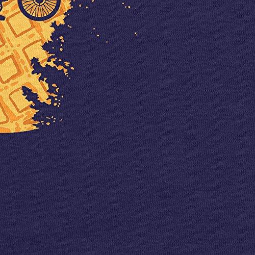 Planet Nerd - Moon Waffles - Herren Kapuzenpullover Dunkelblau