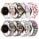 Yayuu Bracelet de Montre pour Samsung Galaxy Watch Active/Active2 40mm/44mm, 20mm Bande de Silicone Sangle pour Galaxy Watch 42mm/Gear Sport/Gear S2 Classic/Vivoactive 3/Ticwatch 2 Smart Watch