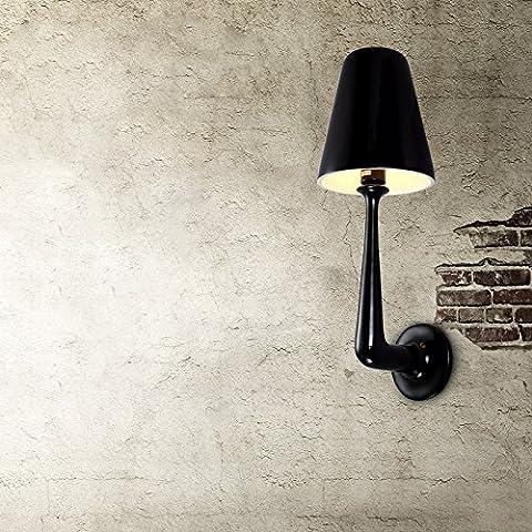 Village de style industriel américain style rétro blanc lampes murales de style nordique antique lampe murale en résine noire cafe bar wall lamp wall lamp loft moderne minimaliste creative industries 25*65cm,